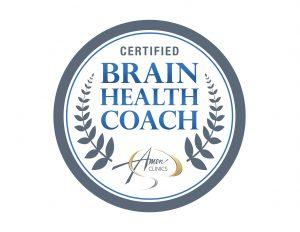 Brain Health Coach certification badge from Amen Clinics   Lisa Pinkstaff, LPC, LLC   Neurofeedback Counselor & Brain Health Specialist in Shavano Park   San Antonio, TX 78249